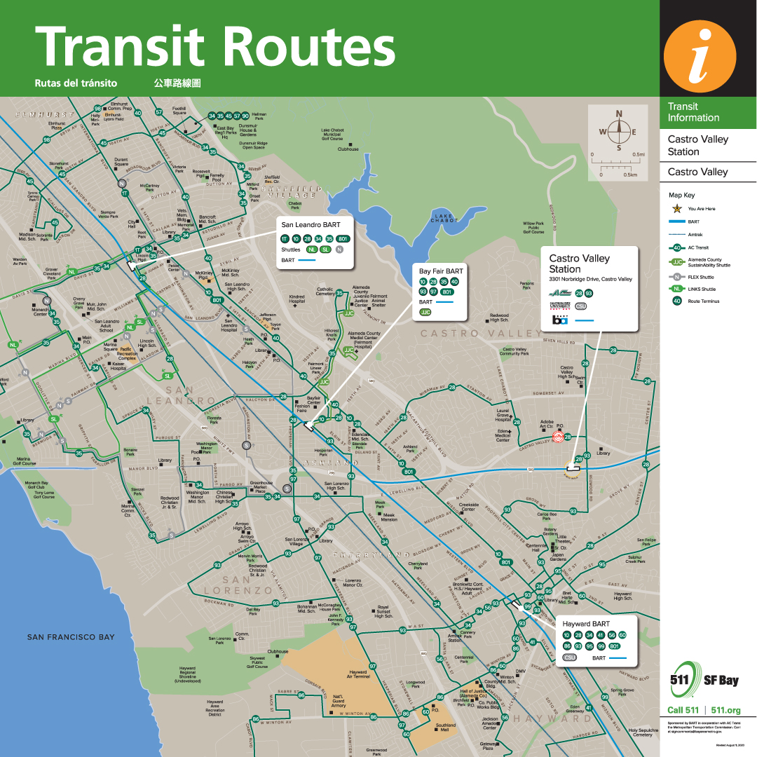 Castro Valley Transit Route Map
