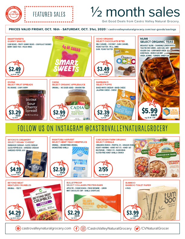 Castro Valley Natural Grocery Sales Flyer October 2020